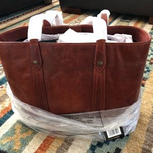 Frye Melissa Washed Leather Shopper Tote Bag